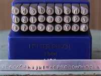 3mm Typewriter Font Metal Letter Alphabet Stamp Lowercase Set - SG-2L
