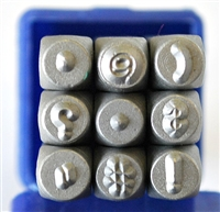 3mm Punctuation Metal Stamp Set - SG-3P