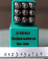 Brand New 3mm Blackjack Font Number Stamp Set - SGCH-BJN3MM