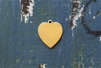 Brass 20mm x 25mm Heart with Ring Metal Stamping Blank - 5 Pack - SGET-358
