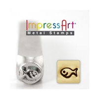 Impress Art Fish Metal Design Stamp - SGSC1519-D-6MM