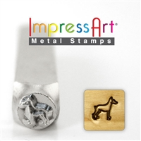 Impress Art Doberman Metal Design Stamp - SGSC156-AD-6MM