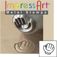 Impress Art Baseball Glove Metal Design Stamp - SGSC157-H-6MM