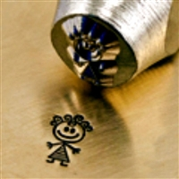 Impress Art Abby Little Stick Girl Metal Design Stamp - SGSC159-R-6MM