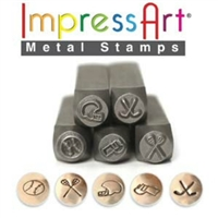 Impress Art Sport Set (5 Pack) Metal Design Stamps - SGSC15K-C-6MM