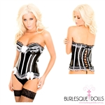 Black and White Lace Corset