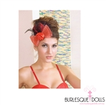 Red Leopard Rose Bow Mini Top Hat