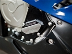 BMW S1000RR '09-15 RHS Crankshaft Cover Assbly Black W/Skid Plate Kit Choice (337H) Uses Liquid Gasket