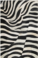 Black/Cream_White Cow Hide Rug - MH-251