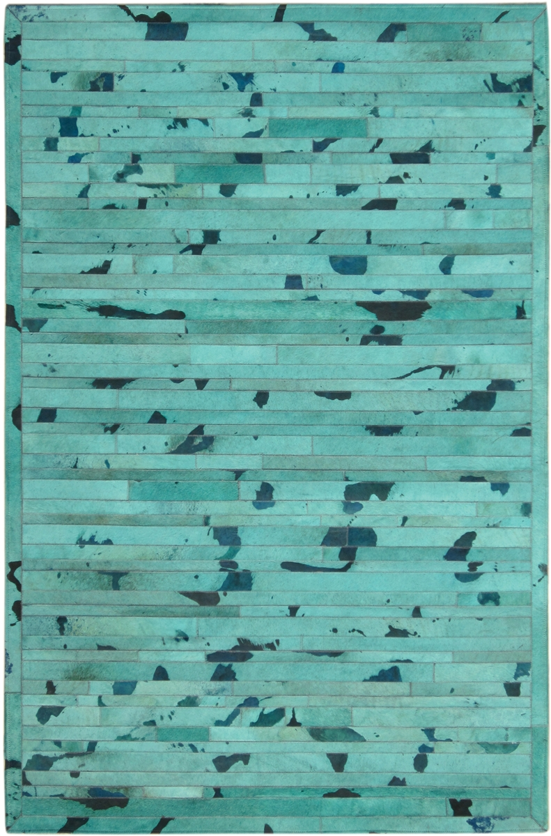 Turquoise Cow Hide Rug MH 257