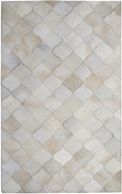 Cream Color Cow Hide Rug MH-269
