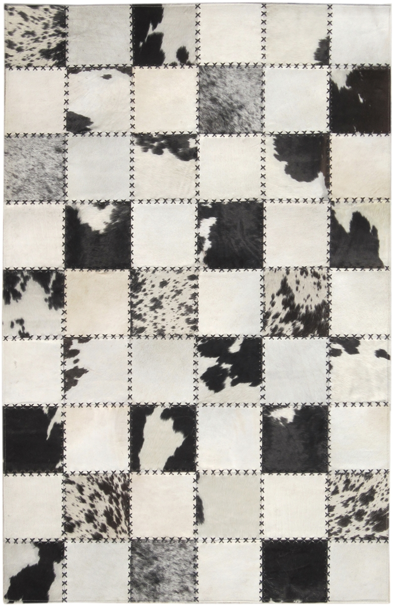 blackcream cow hide rug mh 272 - Cow Hide Rug