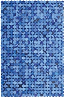 Blue Cow Hide Rug MH-275