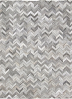 Grey Patchwork Natural Cow Hide Rug MH-289