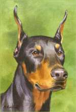 Doberman Pinscher Garden Flag