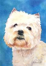 West Highland Terrier Garden Flag