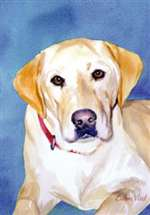 Yellow Labrador Retriever Garden Flag
