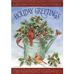 Holiday Holly Standard House Flag