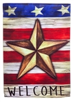 Patriotic Barn Star Decorative House Flag