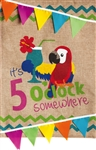 5 O'Clock Somewhere Burlap Garden Flag