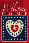 Welcome Home Hearts Garden Flag