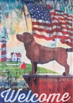 Patriotic Dog Garden Flag