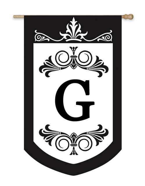 Regalia Monogram Garden Flag G