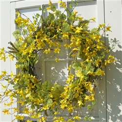 Forsythia and Berry Wreath - Large