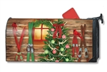 Christmas at the Cabin MailWraps Mailbox Cover
