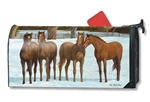 Winter Horse MailWraps Mailbox Cover