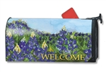 Fields of Blue MailWraps Magnetic Mailbox Cover