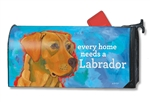 Yellow Lab MailWraps Mailbox Cover