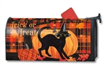 Witch Hat Cat MailWraps Magnetic Mailbox Cover