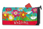 Welcome Blooms MailWraps Magnetic Mailbox Cover