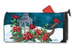 Cardinal Christmas MailWraps Magnetic Mailbox Cover