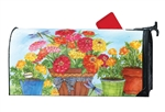Marigolds and Zinnias MailWraps Mailbox Cover