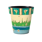 Daisy Pick 15-inch Art Planter