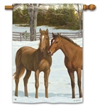Winter Horse BreezeArt Standard House Flag