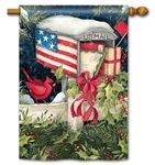 Christmas Cards BreezeArt Decorative Standard House Flag