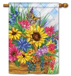 Blooming Basket BreezeArt Standard House Flag