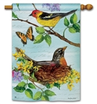 Flora and Fauna BreezeArt Standard House Flag