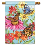 Field of Butterflies BreezeArt Standard House Flag