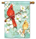 Cardinals In Spring BreezeArt Standard House Flag