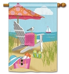Better at the Beach BreezeArt Standard House Flag