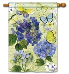 Hydrangea Beauties BreezeArt Standard House Flag