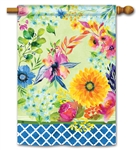 Fresh and Pretty Floral BreezeArt Standard House Flag
