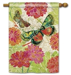 Boutique Butterflies Decorative Standard House Flag