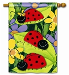 Ladybug Visit Decorative Standard House Flag