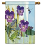 Pansy Prince Decorative Standard House Flag