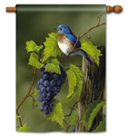 Vineyard Bluebird BreezeArt Decorative House Flag